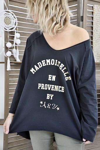T-shirt Mademoiselle Black