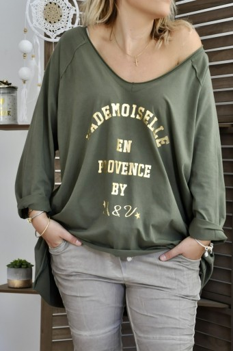T-shirt Mademoiselle Kaki