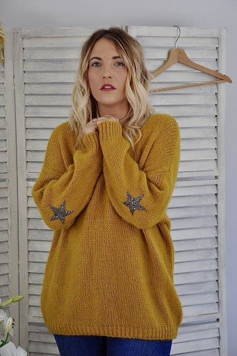 Romy Oversized Moutarde Sweater